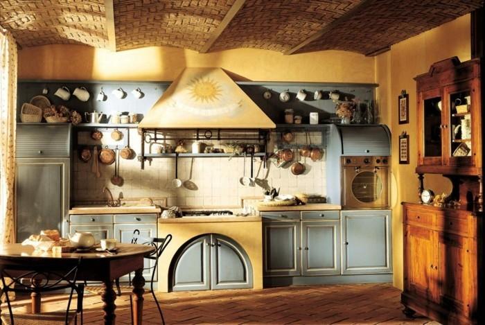 rustikale wohndekoration küche dekorieren gemütlich gestalten