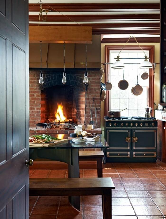 rustikale wohndekoration in der küche geschirr ausstellen