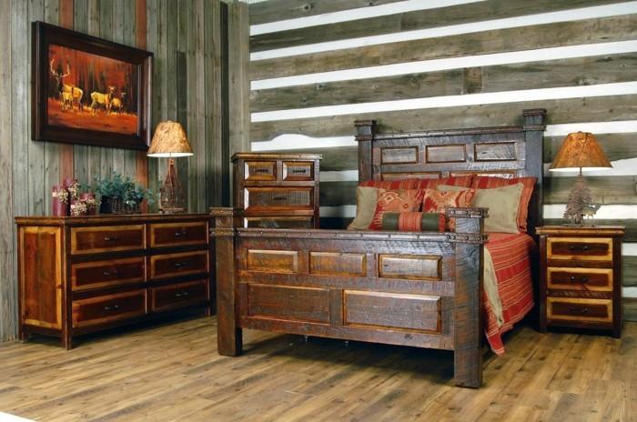 rustikale wohndekoration modernes schlafzimmer rustikal dekorieren