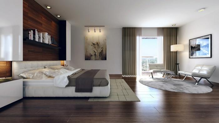 schlafzimmer einrichten freiraum stauraum schlichte farben