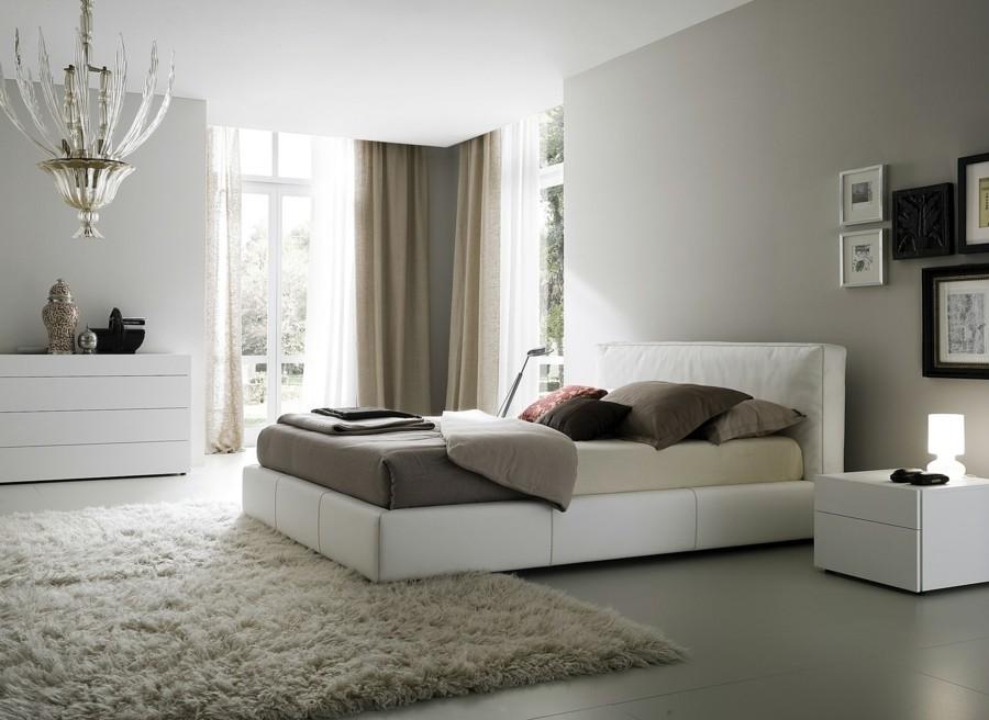 schlafzimmer ideen helle wände ausgefallener leuchter