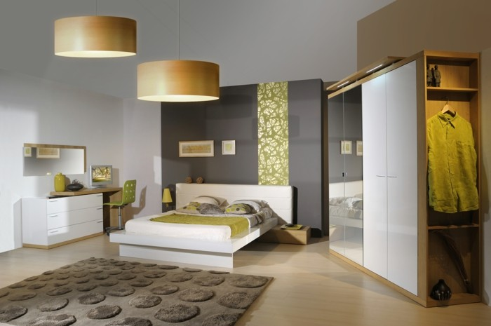 schlafzimmer einrichten modernes möbel set frische akzente