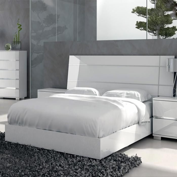 schlafzimmer einrichten weiß grau frisch hell