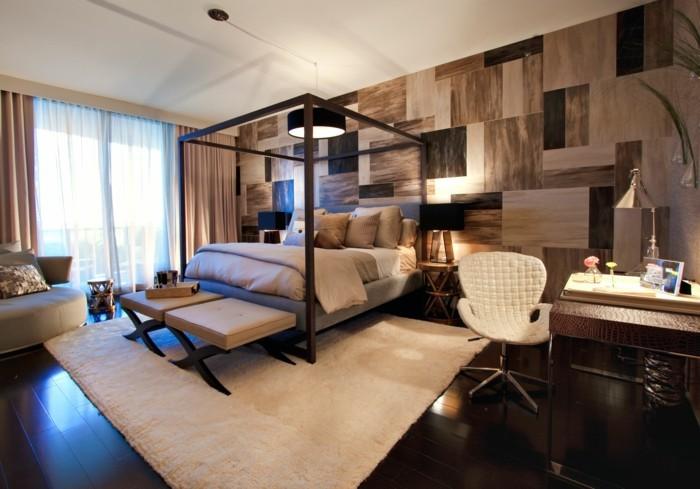 schlafzimmer einrichten wunderschöne akzentwand
