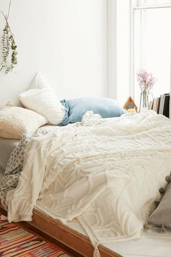 schlafzimmer ideen bettwäsche und farbgestaltung beachten