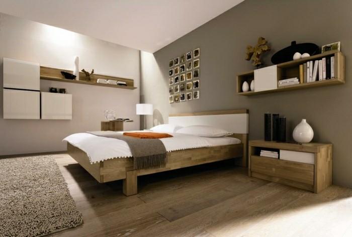 schlafzimmer ideen helles holz stauraum ideen