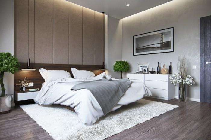 schlafzimmer ideen luftig und trendig graue akzente