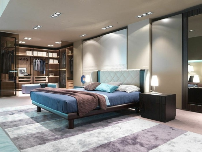 schlafzimmer ideen moderne einrichtung mit männlicher ausstrahlung