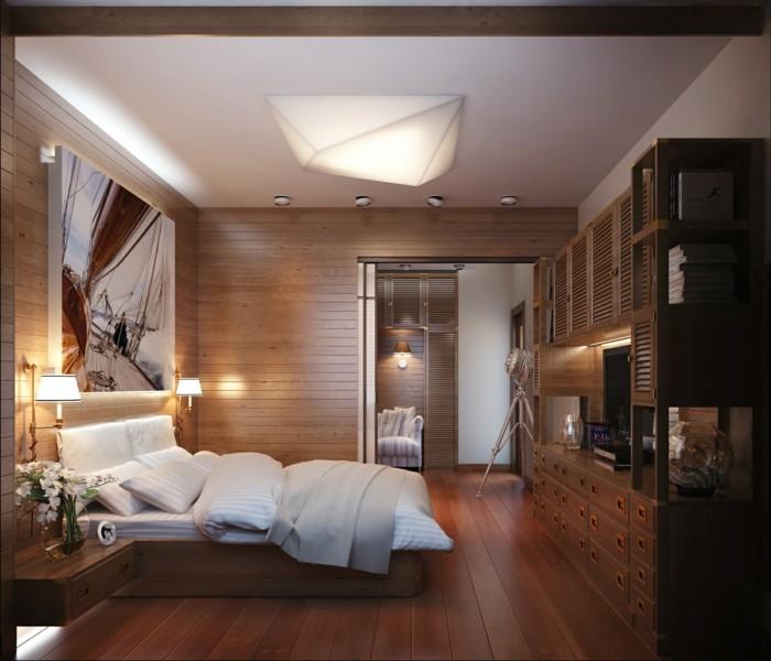 schlafzimmer ideen warme schattierungen moderne beleuchtung