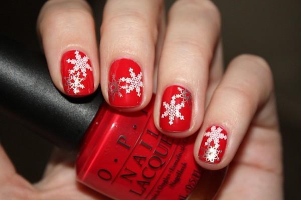 sehr dezente ideen für weihnachtliche winternägel