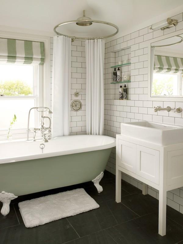 Charmant Wandfliesen Stabchenmosaik ~ Shabby chic badezimmer sind charmant und gemütlich