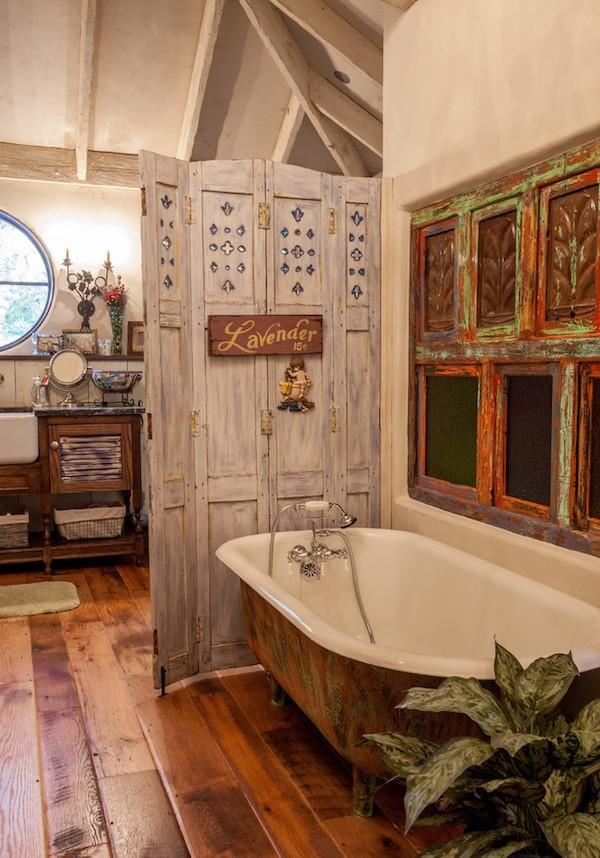 Shabby chic badezimmer sind charmant und gem tlich - Badezimmer wanddeko ...