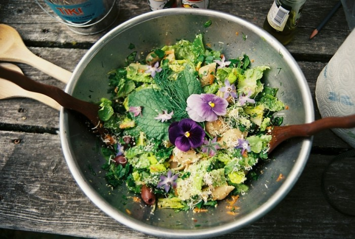 slow cooking salat rezepte gemüse kräuter blumen