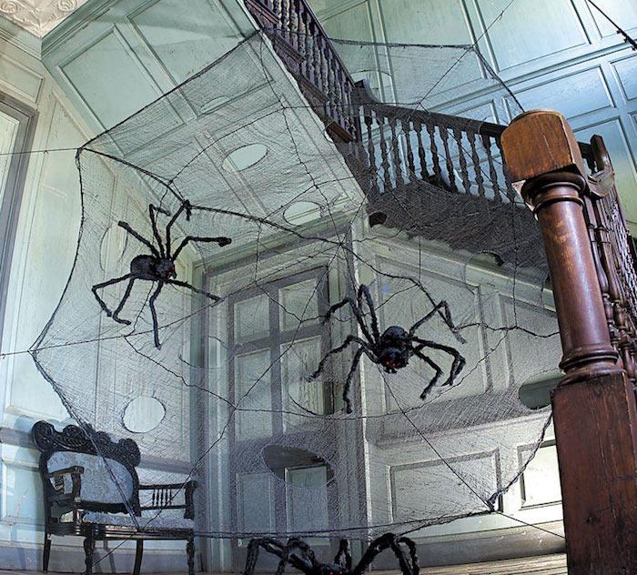 spinnen und spinnweben selber machen zu halloween