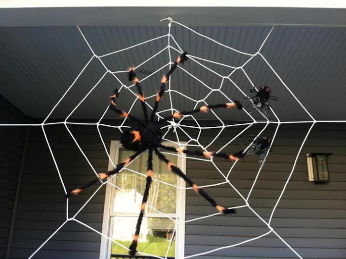 spinnennetz selber machen als deko zu halloween