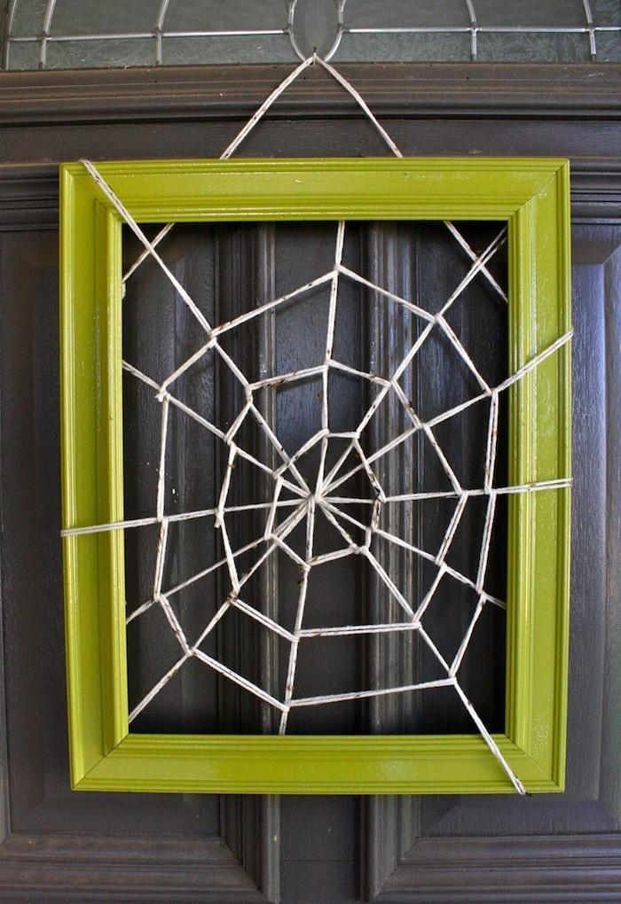 spinnweben selber machen im bildrahmen