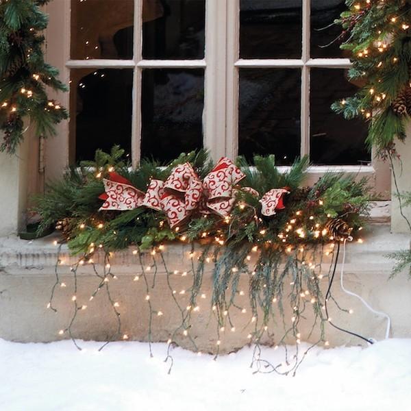tannenbaum weihnachtsdekoration fürs fenster