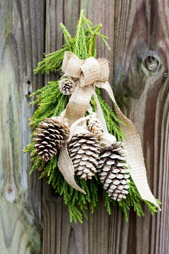 tannenzapfen hängedeko weihnachtliche stimmung