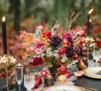 Hochzeit Im Oktober 69 Beispiele Fur Tischdekoration In Herbstfarben