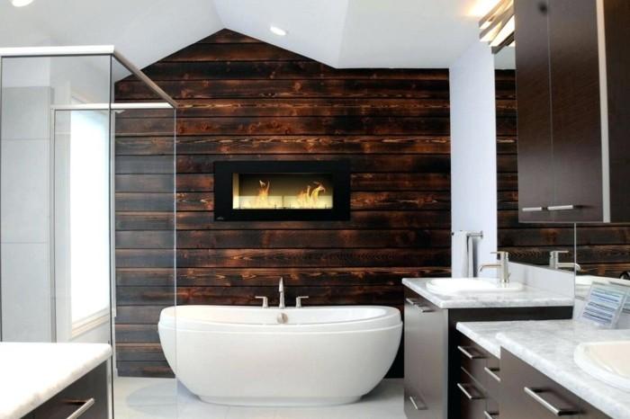 wandgestaltung ideen badezimmer gestalten ideen holz