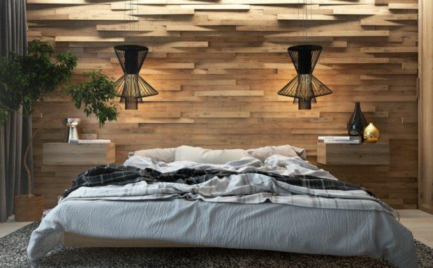 Schlafzimmer ideen wandgestaltung holz  ▷ 1000 ideen für Wandverkleidung aus unterschiedlichen ...