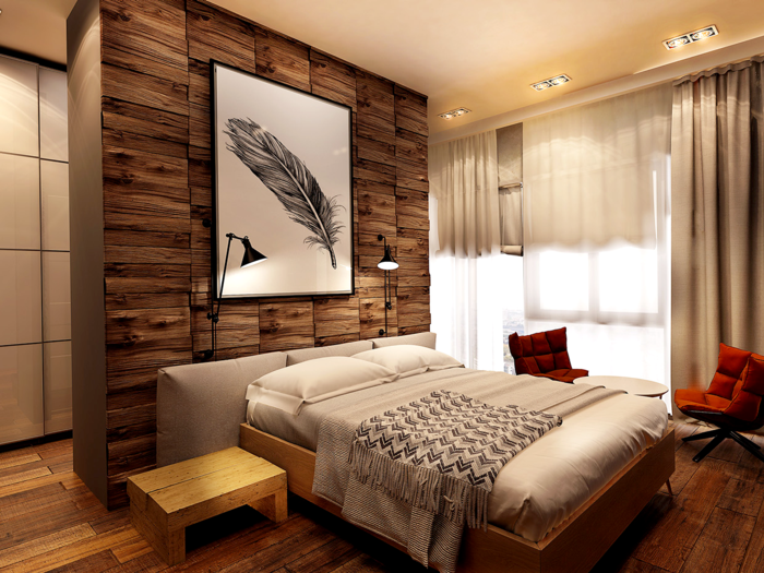 wandverkleidung holz 55 beispiele dass holzw nde den blick fesseln. Black Bedroom Furniture Sets. Home Design Ideas
