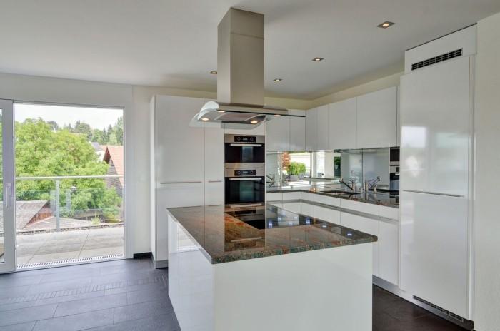 weiße moderne küche gestalten