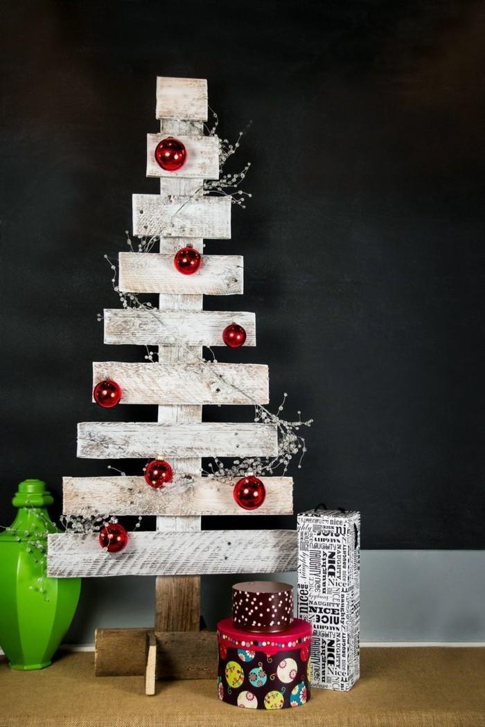 weihnachten basteln hölzerner tannenbaum