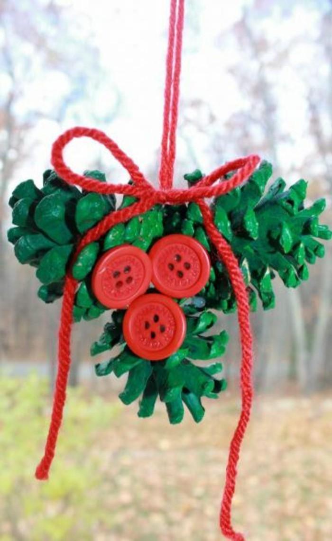weihnachtsbasteln mit kindern grundformen basteln mit garn