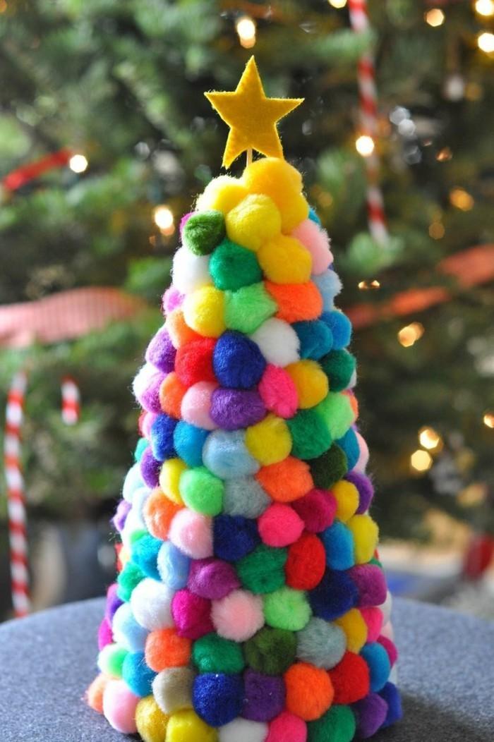 weihnachtsbasteln mit kindern grundformen kugel