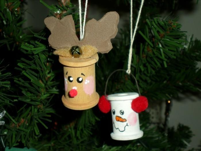 weihnachtsbasteln mit kindern grundformen upcycling ideen