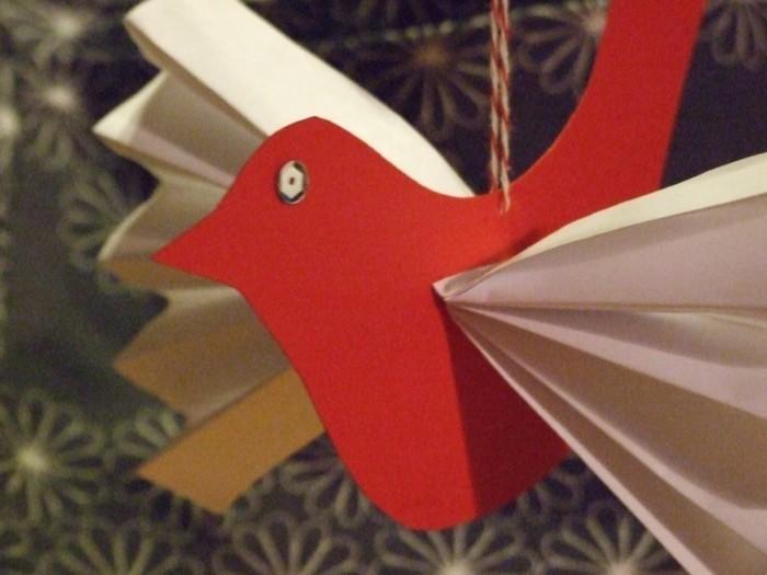 weihnachtsbasteln mit kindern grundformen vogel
