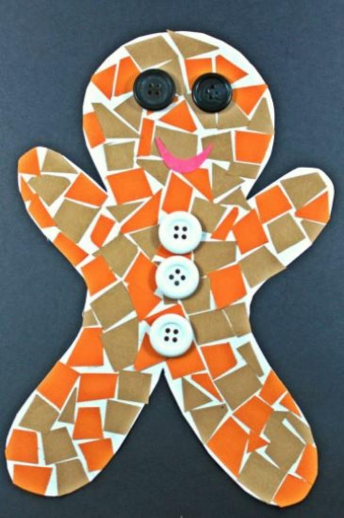 weihnachtsbasteln mit kindern steine bemalen lebkuchenmaennchen