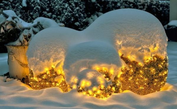 weihnachtsbeleuchtung schnee llicht