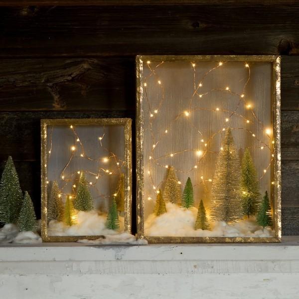 weihnachtsbeleuchtung schneelandschaften