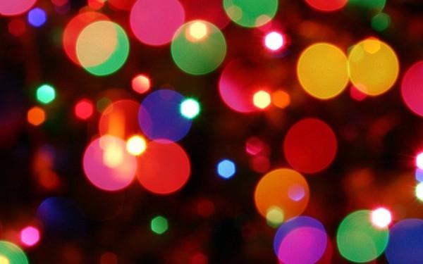 weihnachtsbeleuchtung unscharf kerzen LED bunt