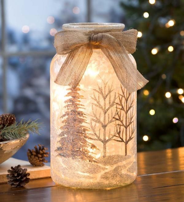 weihnachtsbeleuchtung windlichter basteln ideen