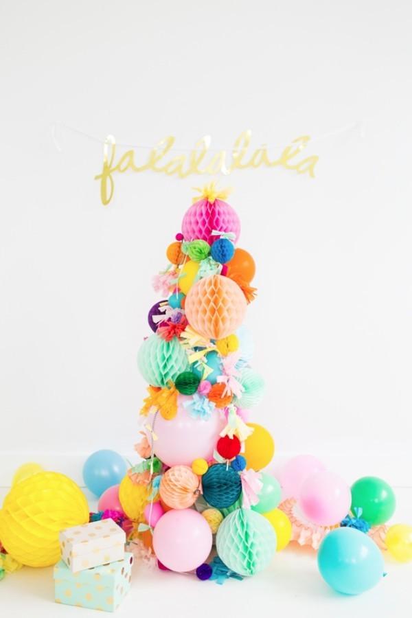 weihnachtsdeko ideen laternen ballons