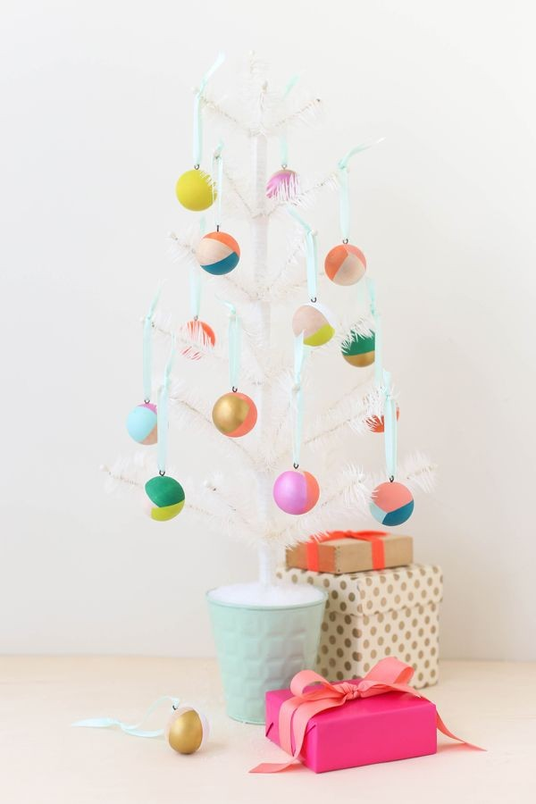 weihnachtsdeko ideen papier weihnachtsbaumdekoration farbig