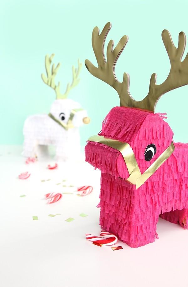 weihnachtsdeko ideen weihnachtshirsch papier