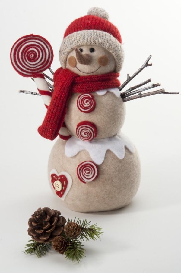 weihnachtsfiguren-basteln-schneemann-weihnachtsdekoration