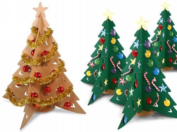 weihnachtsgeschenke mit kindern basteln tannenbäume