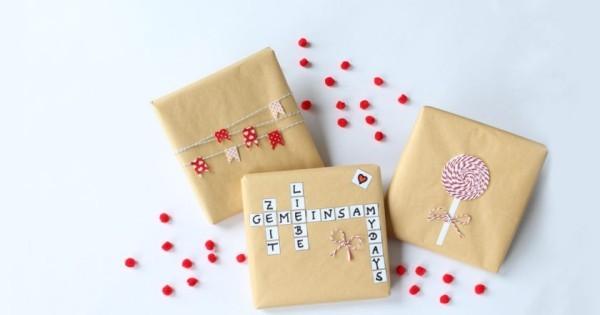 weihnachtsgeschenke mit kindern tolle verpackungen