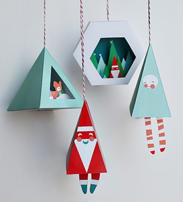 weihnachtsman weihnachtsengel aus papier origami weihnachten