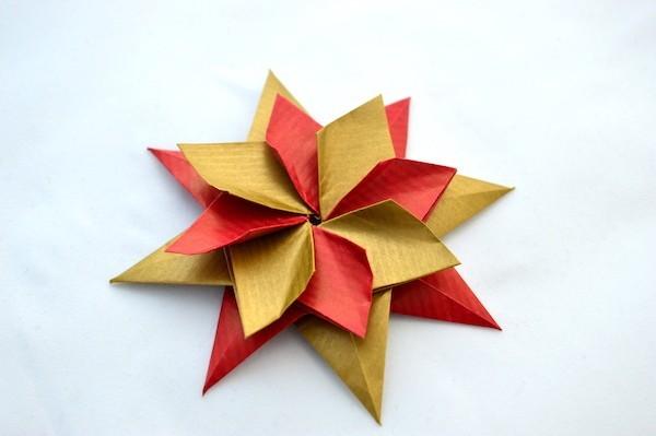 weihnachtsstern origami weihnachten ideen aus papier