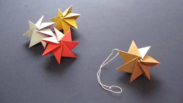weihnachtssterne selber machen origami weihnachten