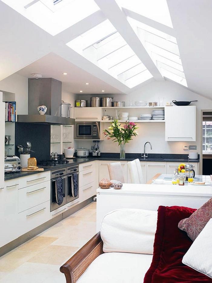 Küche Mit Dachschräge U2013 50 Ideen Für Ein Auffälliges Küchendesign |  Einrichtungsideen ...