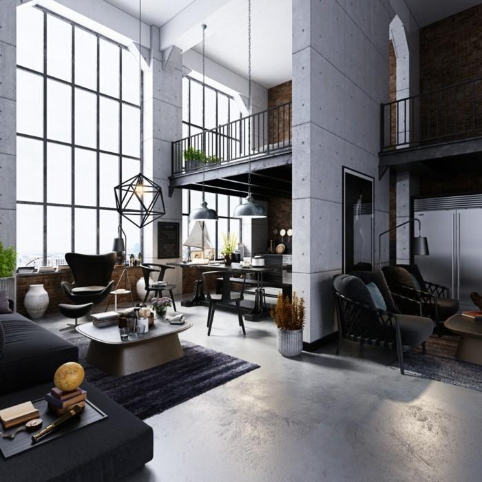 wohnzimmer lampe faszinierende industrielle lampen