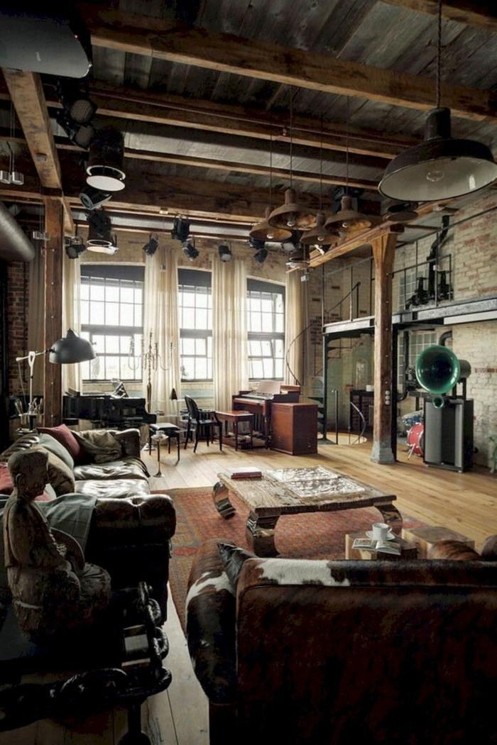 wohnzimmer lampe industriell und gemütlich