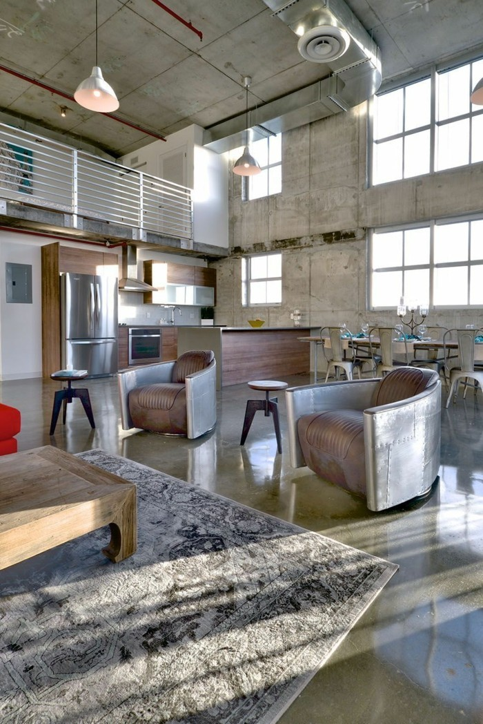 wohnzimmer lampe industriell und trendig